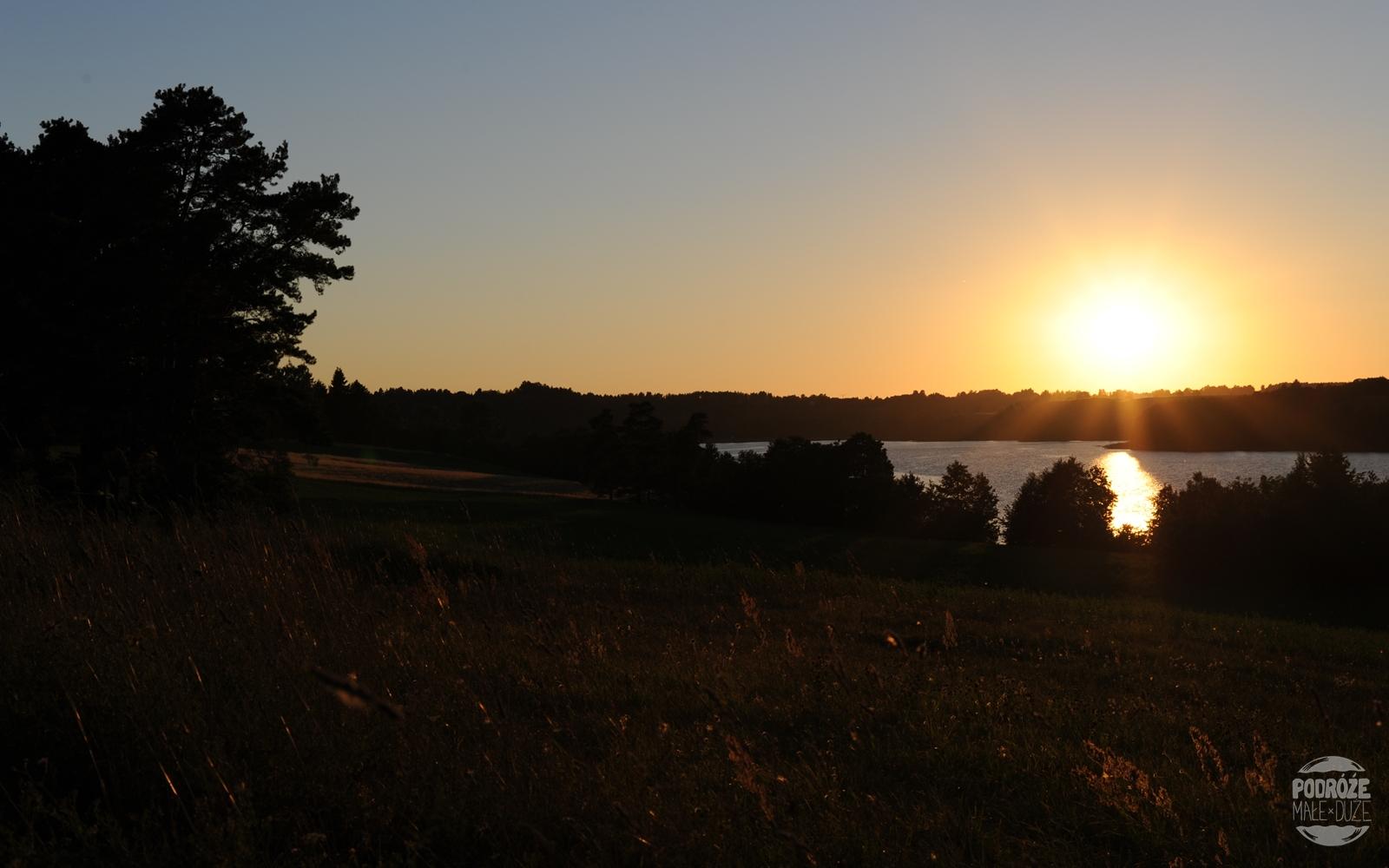 zachód słońca suwalszczyzna