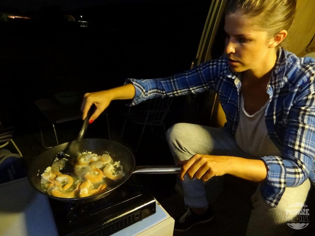 VWT3 vanlife gotowanie w busie Westfalia