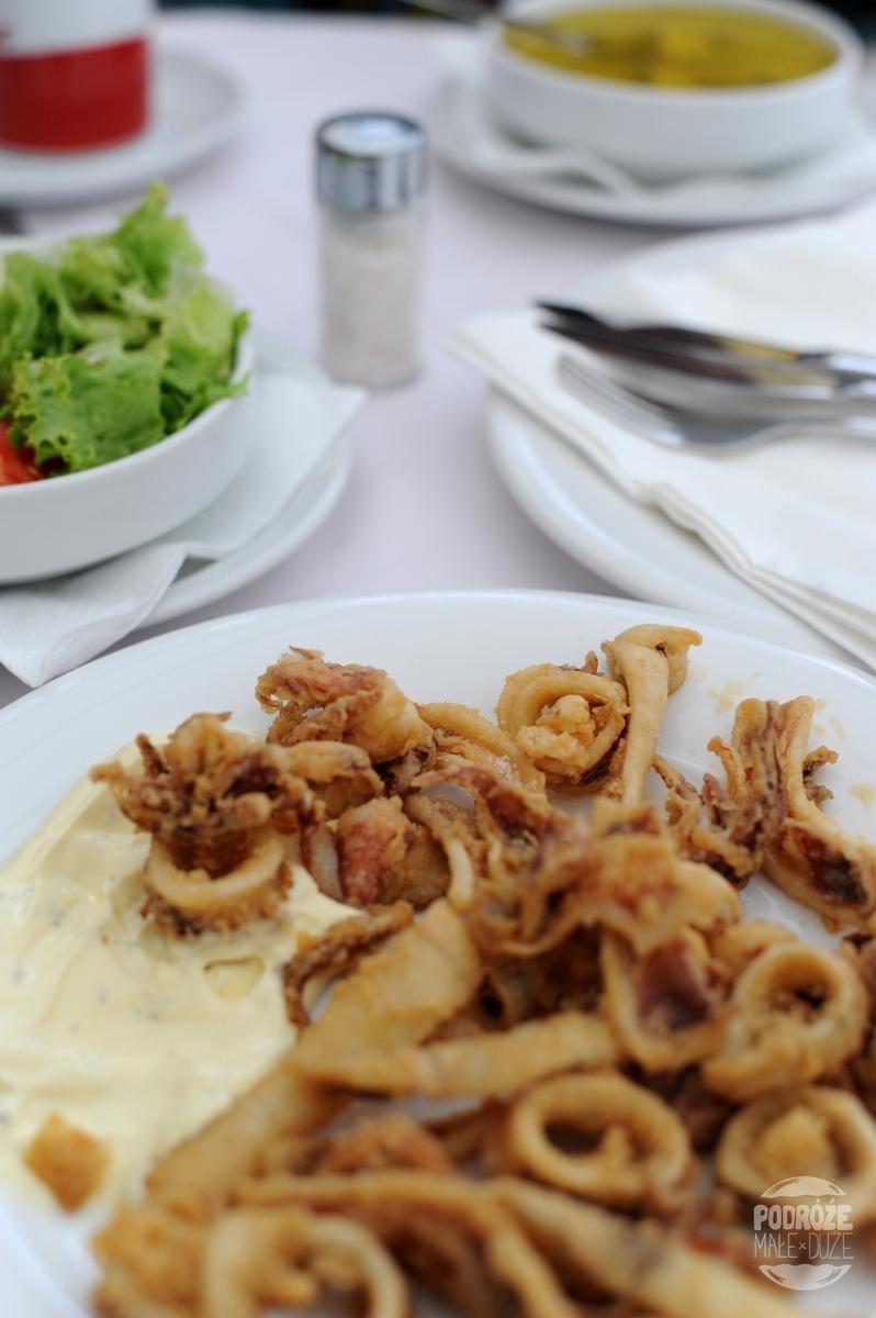 Chorwacja Korčula Vela Luka jedzenie