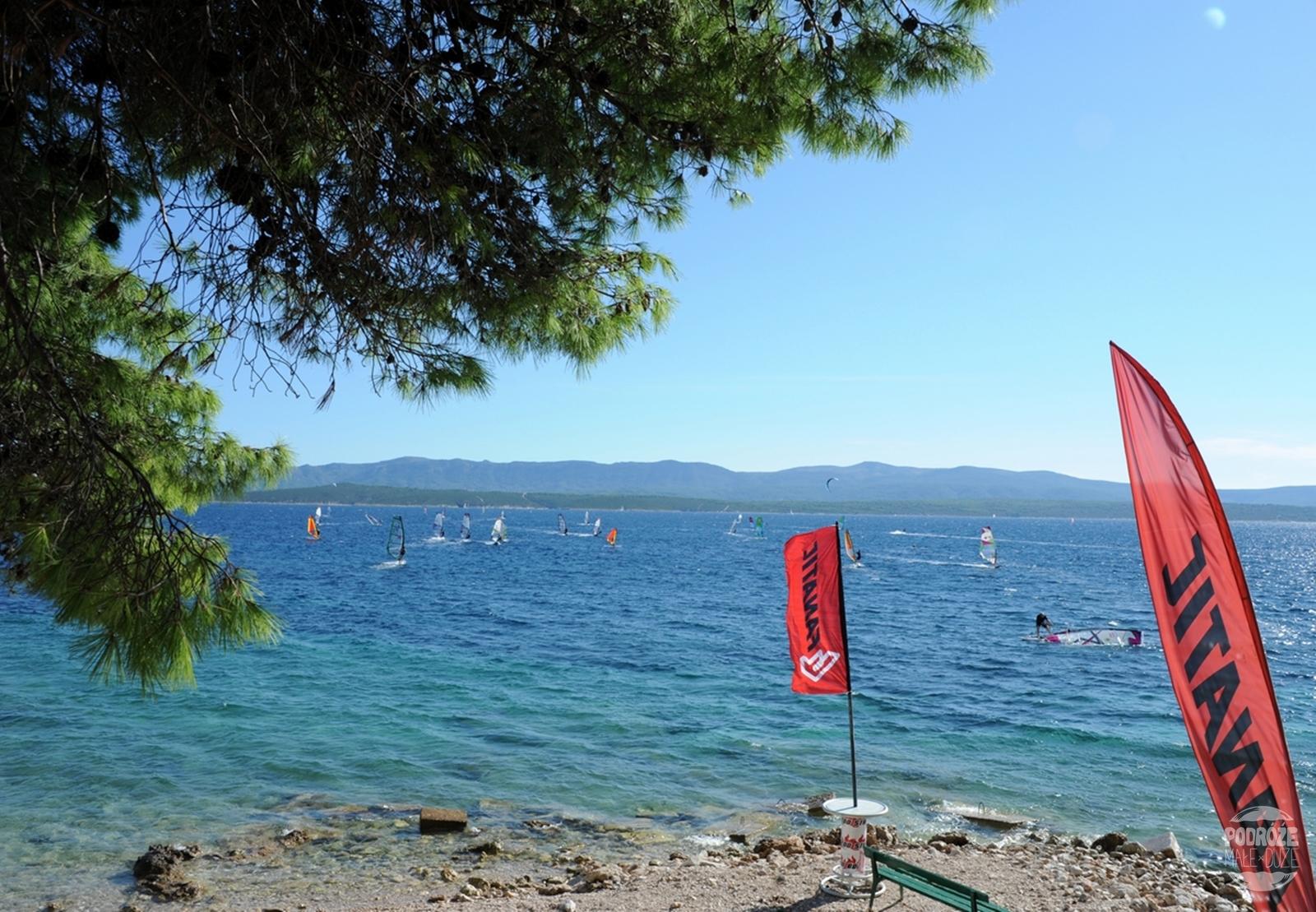 chorwacja wyspa Brač Bol plaża windsurfing