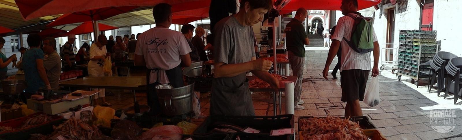 Chorwacja Split targ rybny