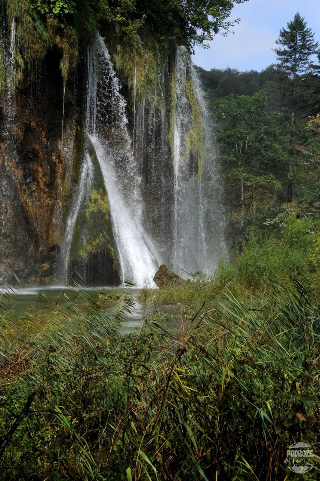 Chorwacja Jeziora Plitwickie Park Narodowy wodospad