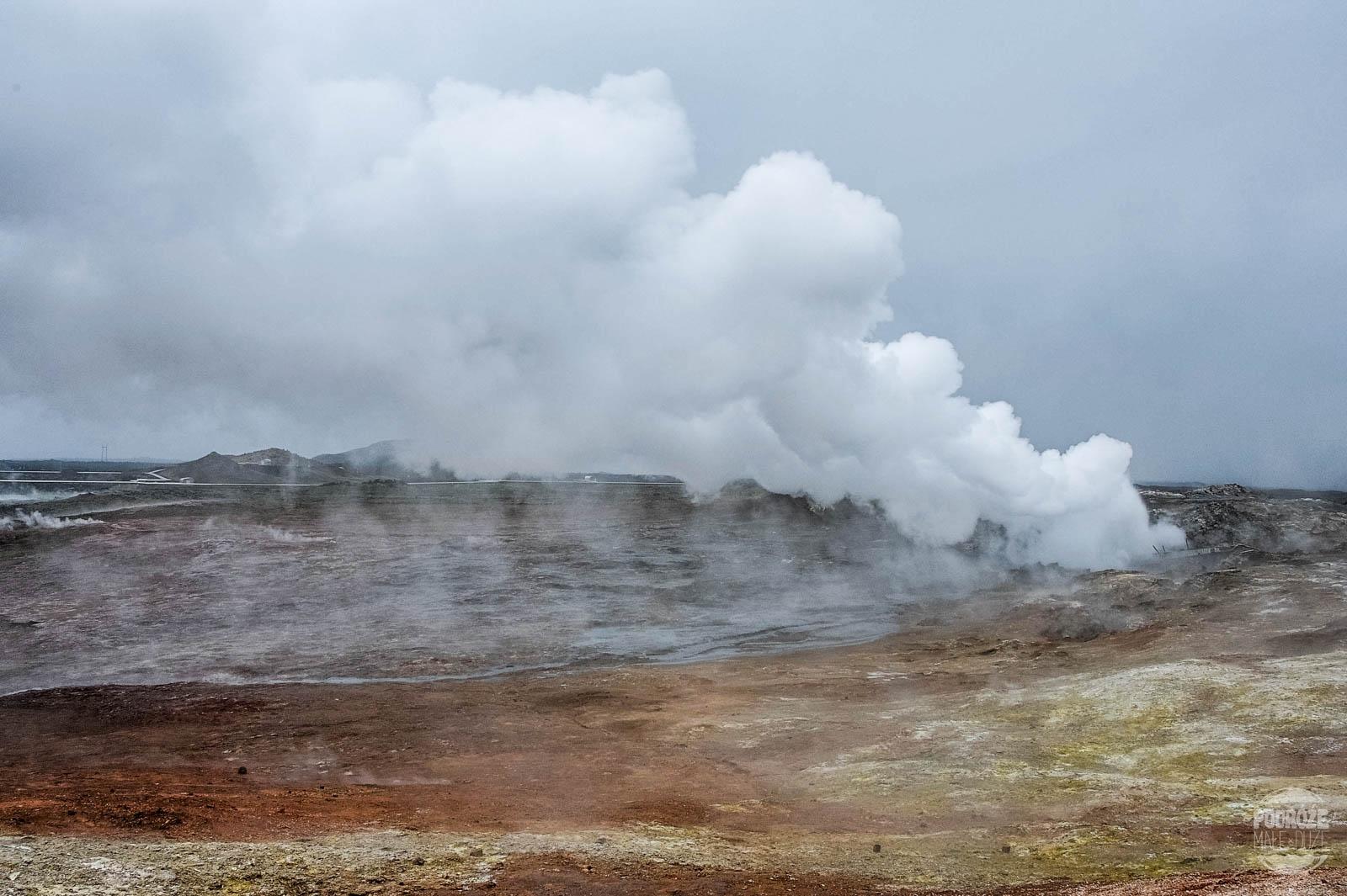 pola geotermalne Islandii Gunnuhver