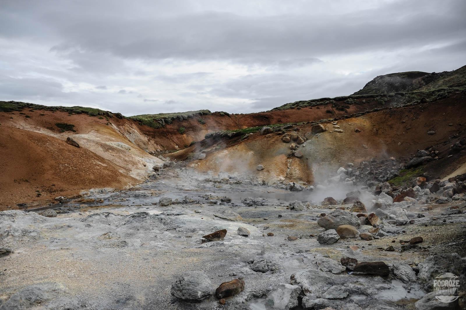Pola geotermalne na Islandii Seltun & Krysuvik