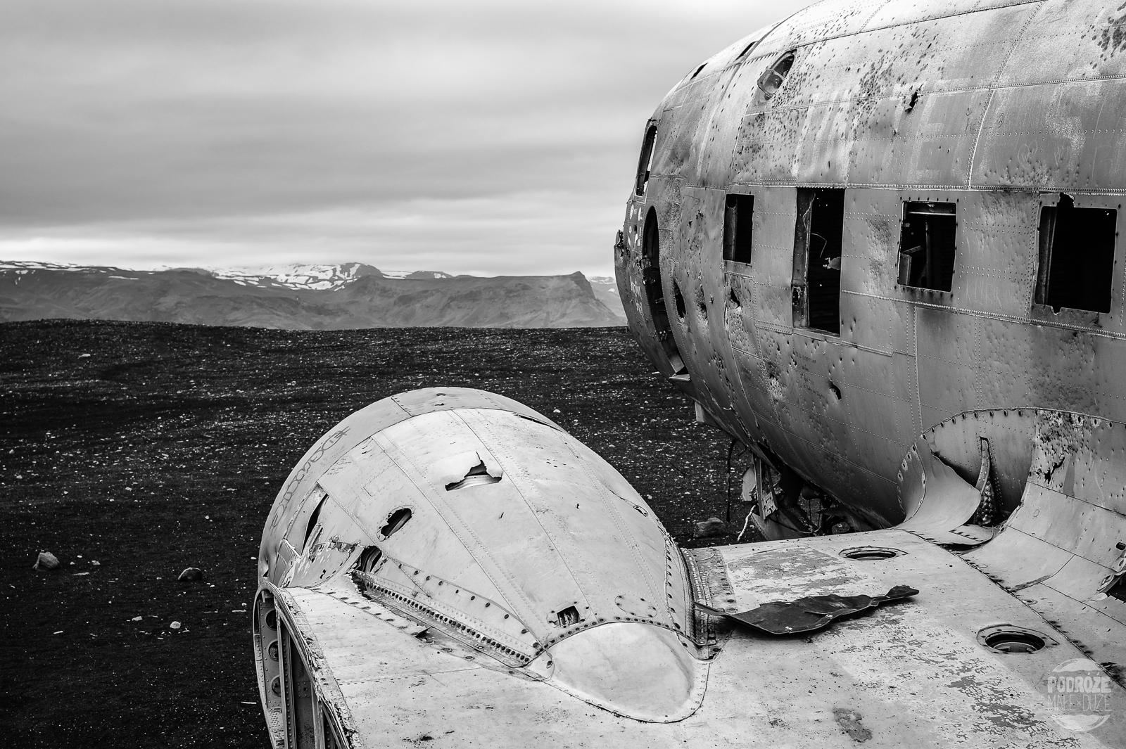 wrak samolotu Dakota Islandia