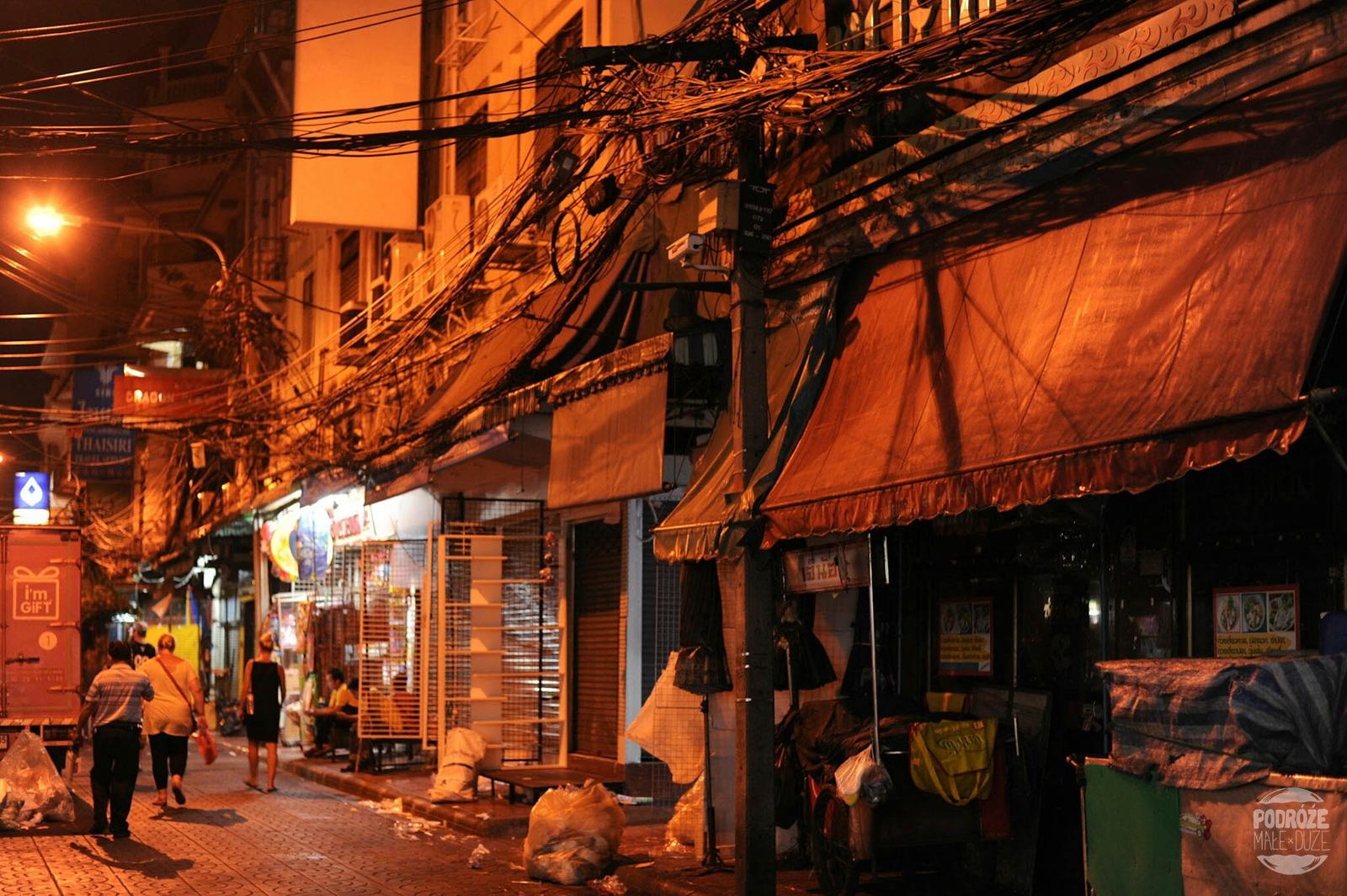 Ulica w China Town. Bangkok