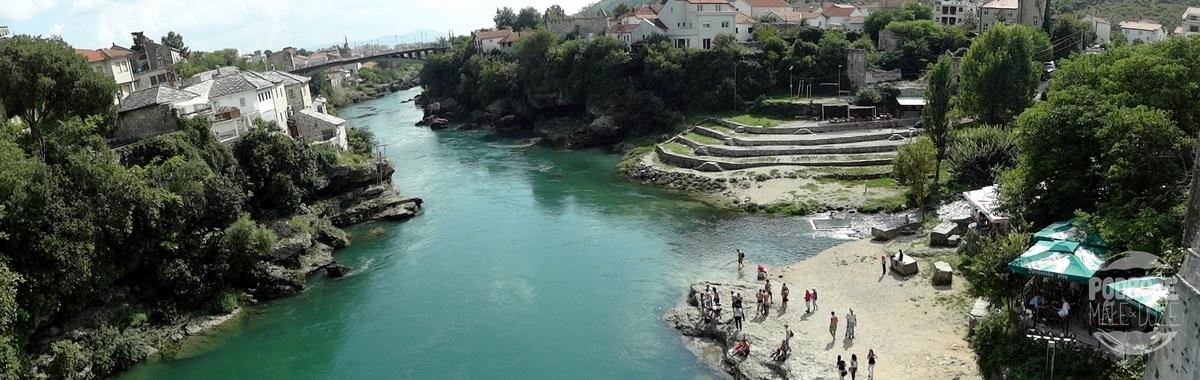 Bośnia i Hercegowina Mostar stary most widok