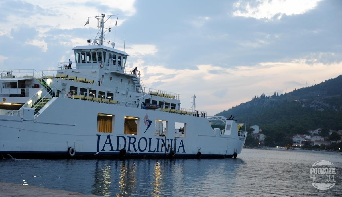 Chorwacja wyspa Korčula Korcula prom