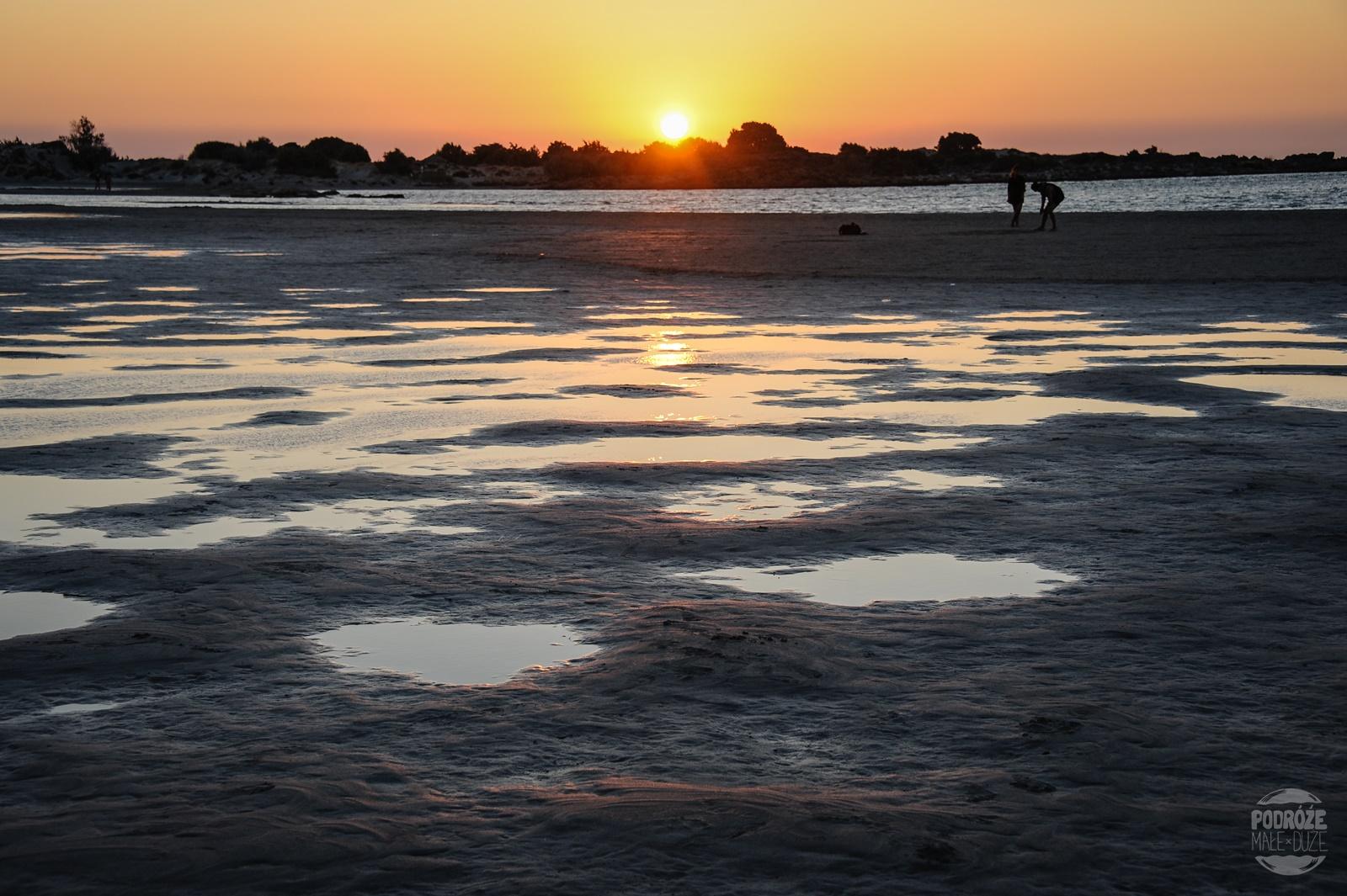 zachód słońca Elafonisi