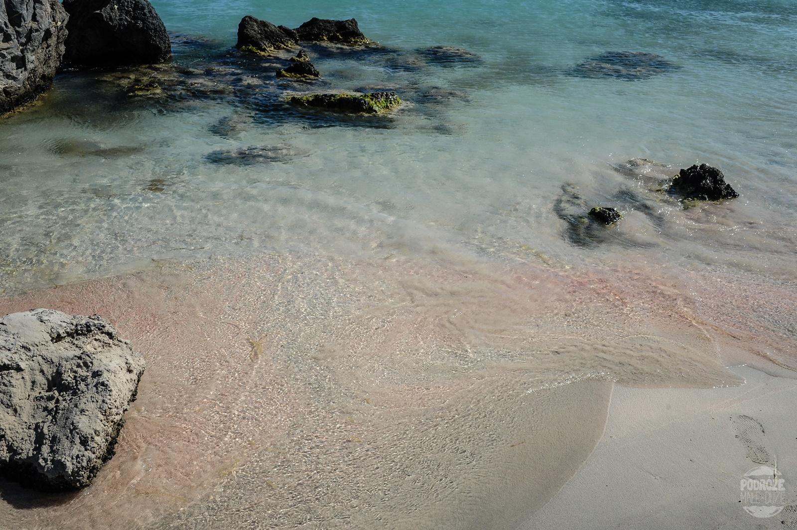 różowy piasek Elafonisi