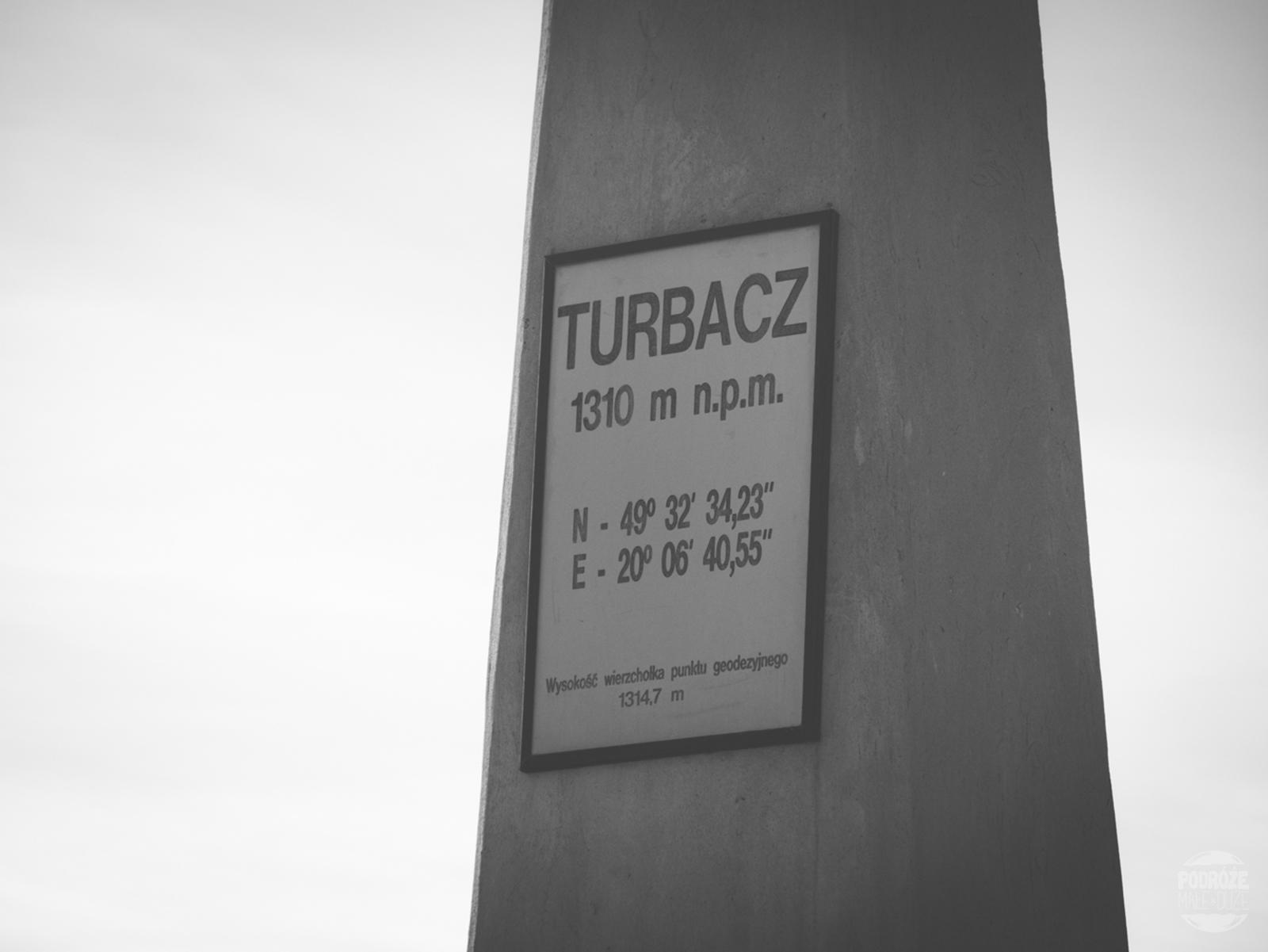 szczyt Turbacz. Polskie Góry Gorce