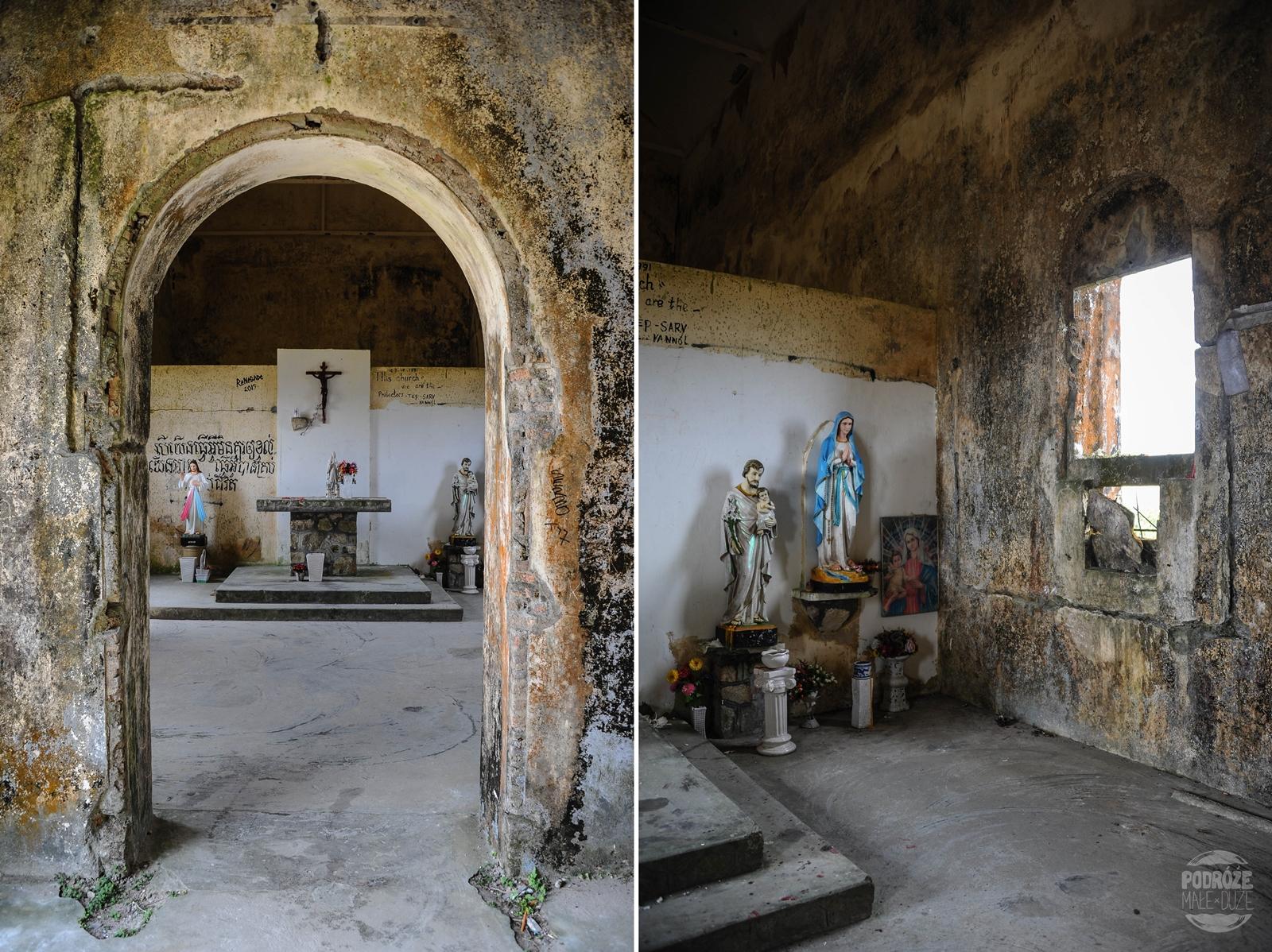 kambodza kampot bokor hill station opuszczony kosciol