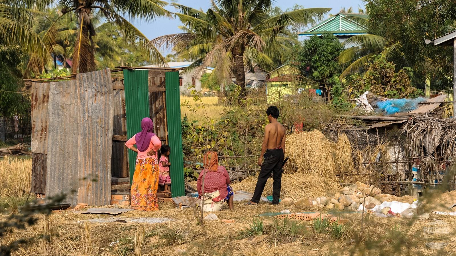 ludzie kambodza wies kampot